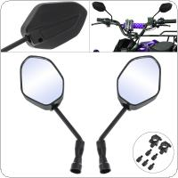 28.8CM Black Pair Rear View Mirrors Side Mirror Bolt Screw Connector for General Purpose Motorcycle