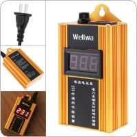 Yellow 90KW 110V-220V Smart Power Saver Household Meter Electricity Saving Box with Electronic Screen Display for Family / School / Factory