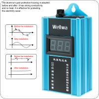 Blue 100KW 110V-220V Smart Power Saver Household Meter Electricity Saving Box  with Electronic Screen Display for Family / School / Factory