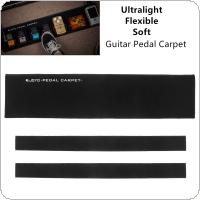 65 x 15cm 470g Ultralight Flexible Soft Guitar Pedal Carpet Board Setup Style DIY Foldable Guitar Effect Pedalboard