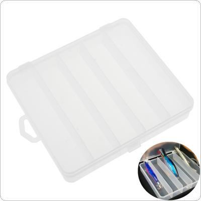 18 x 15.5 x 3.5cm 5 Compartment Fishing Lure Box for Minnow Shrimp Bait Hard Lures Storage Multi-function Protable Fishing Tackle Box