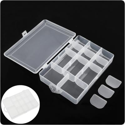 19 x 13.4 x 3.8cm Activity 14 Compartment Fishing Tackle Box  for Fishing Hook Swivel Ring Lures and Accessories Storage Case