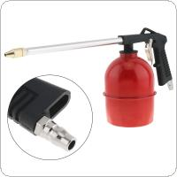 Red Pot Type Pneumatic Spray Gun with 6mm Nozzle Caliber and Aluminum Pot for Furniture / Factory Facilities
