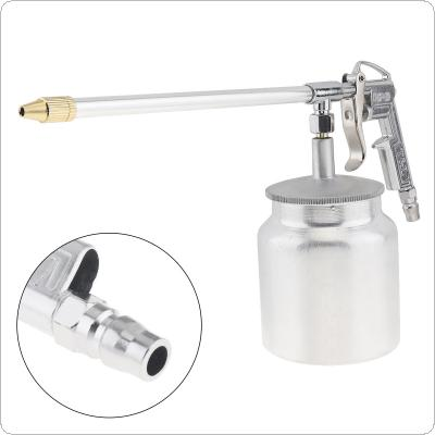 Silver Pot Type Pneumatic Spray Gun with 6mm Nozzle Caliber and Aluminum Pot for Furniture / Factory Facilities