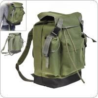 70L Large Capacity Multifunctional Army Green Canvas Carp Fishing Bag Fishing Tackle Backpack