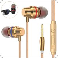 PTM M5 Metal Headphone Noise Isolating in ear Earphone Headset with Mic
