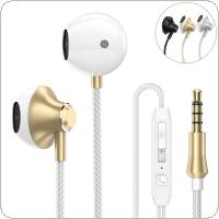 PTM D31 Metal Headphone Noise Isolating in ear Earphone Headset with Mic
