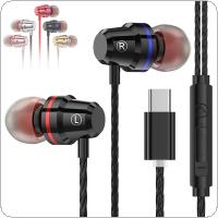 M4 Metal In Ear Headphones with Subwoofer and TPE Wire for Smartphone
