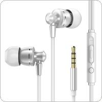 PTM D11 Metal In Ear Headphones with Line Control and Wheat Tuning for Smartphone