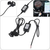 12/24V Universal Dual USB Car Waterproof Charger for Motorcycle / Car / RV