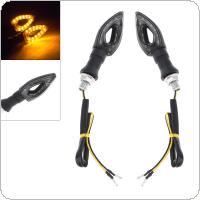 2pcs 12V Heart Type LED Amber Yellow Color Flashing Turn Signal for Motorcycle Universal