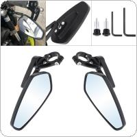 2pcs 22MM Blue Lens  Motorcycle Bar End Mirrors Rear for Street Car / Scooter