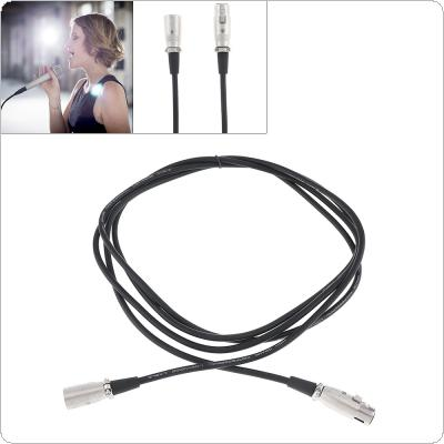 2m 3 Pin XLR Male to Female Microphone Extension Cable Audio Extension Cables Cord Wire Line Black for Microphone 6mm