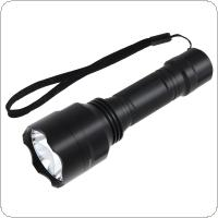 Waterproof 1000 Lumens C8 XPE LED Aluminum Alloy Glare Flashlight with Green Light for Outdoor Activities / Hunting / Fishing