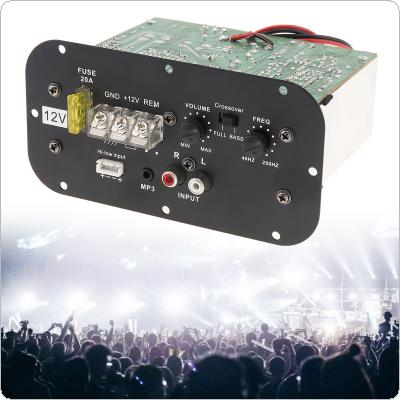 12V 150W Black Powerful Bass Subwoofer Car Audio High Power Amplifier Board with Light for 6 /8 /10 Inch Car Subwoofer
