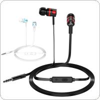 PTM T2 Headphones In Ear ABS Wire Controlled Noodle Type with Microphone and Built-in 6U Speakers for IOS/ Android