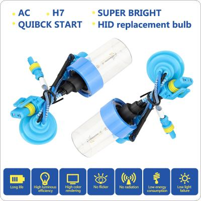 2pcs 12V H7 55W 6000K White High Bright and Fast Start Car HID Xenon Halogen Lamp Auto Front Headlight Fog Bulb