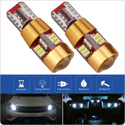 2pcs T10 12V 4W  6000K Highlighting LED 27SMD Decoded Width Lamp Automobile Broadband Light Bulbs