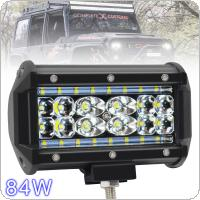 5 Inch 84W 12000LM 6000K 4 Rows LED Light Bar Waterproof for Off-Road Suv Boat 4X4 Jeep JK 4Wd Truck 12V-24V