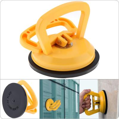 TL-F1 Yellow Plastic Single Claw Sucker Vacuum Suction Cup with Rubber Suction Pad and 2 Clip Handles for Tiles Glass Lightweight Locking Device