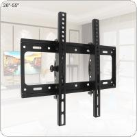 Universal 50KG Adjustable TV Wall Mount Bracket Flat Panel TV Frame Support 15 Degrees Tilt with Level for 26 - 55 Inch LCD LED Monitor