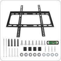 Universal 45KG Fixed Type TV Wall Mount Bracket Flat Panel TV Frame with Level Fit for 26-63 Inch LCD LED Monitor Flat Panel