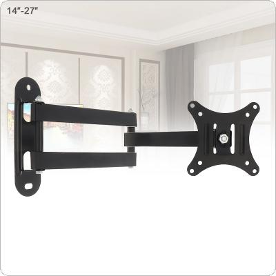 Universal 10KG Adjustable TV Wall Mount Bracket Flat Panel TV Frame Support 15 Degrees Tilt with Small Wrench for 14 - 27 Inch LCD LED Monitor