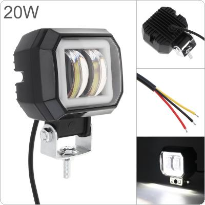3 Inch 20W 6000K Led Work Light Bar Waterproof Angel Eye Fog Light for Off-Road Suv Boat 4X4 Jeep JK 4Wd Truck