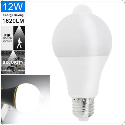 12W AC 220V 1000LM White Light Automatic Human Infrared Induction LED PIR Bulb with 120° Beam Angle Fit for Home / School / Corridor / Aisle