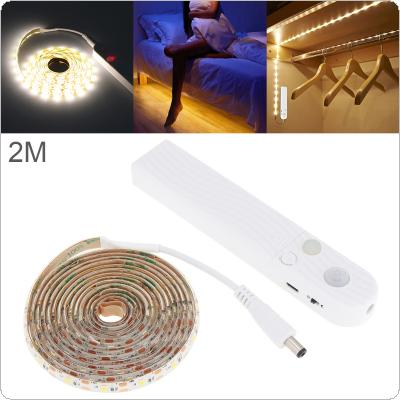 2M 2W 5V 120 LM LED Strip Light Human Infrared Induction Lamp with Waterproof Dripping Glue and Photosensitive Mode for Wardrobe / Drawer / Showcase / Cabinet