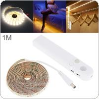 1M 2W 5V 120 LM LED Strip Light Human Infrared Induction Lamp with Waterproof Dripping Glue and Photosensitive Mode for Wardrobe / Drawer / Showcase / Cabinet