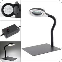 Wlks-608 110V / 220V 18W Magnifying Glass Brightness Light Desk Lamp with 15X and 40 LED Lighting for Reading / Illuminating / Engraving