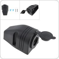 Black 12V Waterproof Tent Style Cigarette Lighter Socket Connector Adapter Charger for Car / Motorcycle Universal
