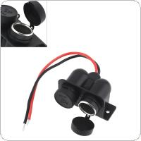 Black Double Hole 12V Waterproof Cigarette Lighter Socket Connector Adapter Charger for Car / Motorcycle Universal