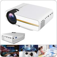 YG400 Universal HD Portable Mini Homehold Projector with Built-in Loudspeaker Support 100 Inch Large Screen Projection