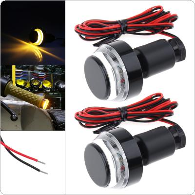 2PCS 12V LED Yellow Flashing Signal Indicating Turn Signal for Motorcycle Universal
