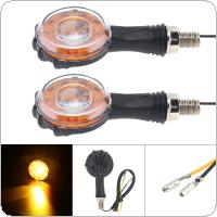 2pcs 12V Yellow Flashing ABS Energy Saving Signal Indicating Turn Signal for Motorcycle Universal