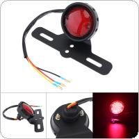 12V 3 Line Red Flashing Retro LED Rear Brake Stop Car for Lamp Motorcycle Universal