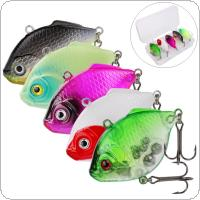 5pcs/lot 4.5cm 9g VIB Hard Bait Simulation Flatfish Tremble Sinking Fishing Lures with Box