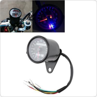 Motorcycle Odometer 12V Retro LED Indicator Light with Luminous Double Mileage Instrumentation for Motorcycle Universal