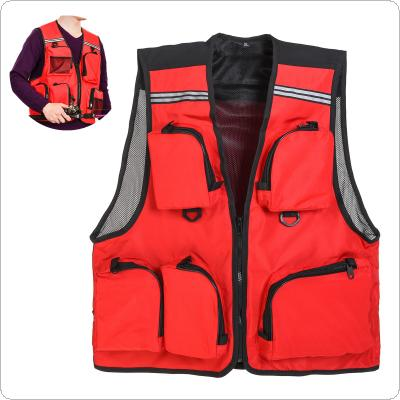 Outdoor Sport Thin Breathable Fishing Vest 5 Pocket Quick Dry Mesh Waistcoat Jacket
