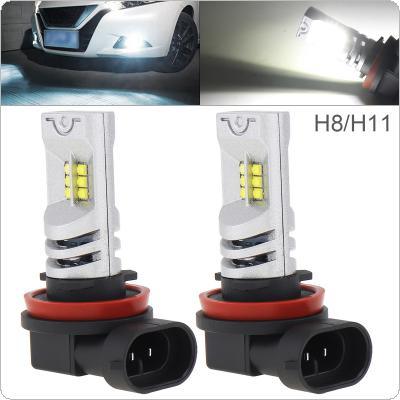 2pcs 12V H8 H11 2525 SMD Lights 2400LM 6500K-7500K White Driving Running Car Lamp Auto Light Bulbs