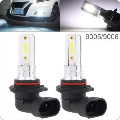 2pcs 12V  9005 9006 COB SMD Lights 1200LM 6500K-7500K White Driving Running Car Lamp Auto Light Bulbs