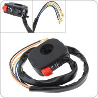 12V 7/8'' 22MM Black Handle LED Headlights Double Flash Switch for Motorcycle Universal