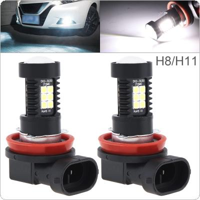 2pcs 12V  H8 H11 3030 SMD Lights 1200LM 6500K-7500K White Driving Running Car Lamp Auto Light Bulbs