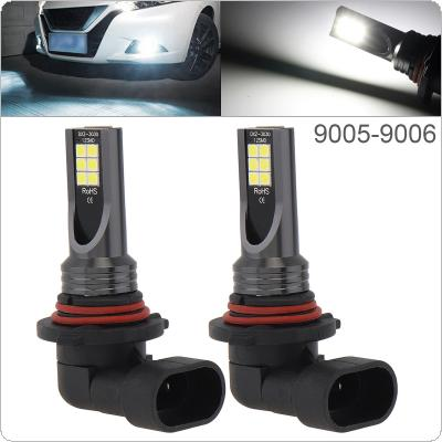 2pcs 12V  9005 9006 3030 SMD Lights 1200LM 6500K-7500K White Driving Running Car Lamp Auto Light Bulbs