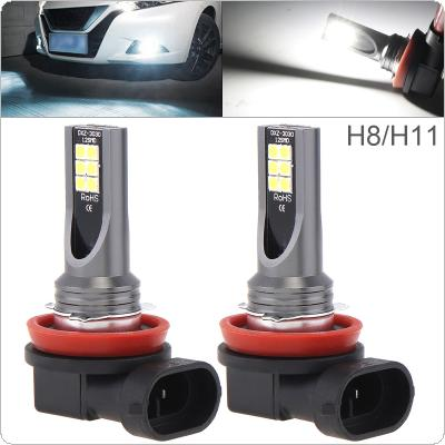 2pcs 12V H8 H11 3030 SMD Lights 800LM 6500K-7500K White Driving Running Car Lamp Auto Light Bulbs