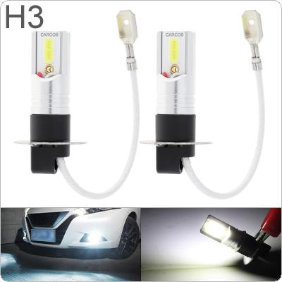 2pcs 12V H3 COB  SMD Lights 1200LM 6500K-7500K White Driving Running Car Lamp Auto Light Bulbs