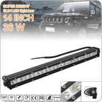 14 Inch 36W LED Strip Light Bar Single Row Off Road Led Lights for Jeeps / SUV / Motorcycles