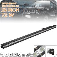 26 Inch 72W LED Strip Light Bar Single Row Off Road Led Lights for Jeeps / SUV / Motorcycles